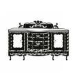 Vintage Baroque Rich Commode table vector image vector image
