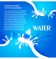 water aqua splash bottle drops element design vector image vector image