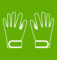 winter gloves icon green vector image vector image