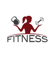 woman of fitness silhouette character design vector image vector image