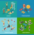 workout fitness design concept vector image vector image