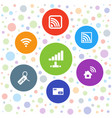 7 free icons vector image vector image