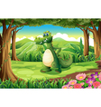 A crocodile at the forest vector image vector image