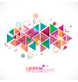 abstract colorful and mixed creative geometric vector image