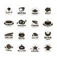 Bakery Labels Monochromatic Set vector image vector image