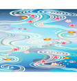 Beautiful-pool with blossoms floating on the vector image vector image