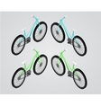Bicycle isometric vector image