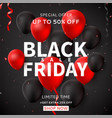 black friday sale background template vector image vector image