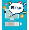 Blog and blogger social media design vector image