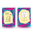 brochure template design cartoon style vector image