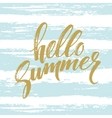 Brush lettering compositionPhrase Hello Summer vector image