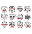 car store auto parts and vehicle accessory icons vector image vector image