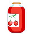 cherry juice icon vector image