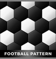 classic black and white soccer ball seamless vector image vector image