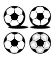 classic footol ball with black pentagons and white vector image vector image