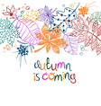 Colorful Patterned Autumn Leaves Concept vector image vector image