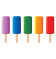 colorful popsicles vector image vector image