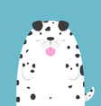 cute big fat Dalmatian dog vector image vector image