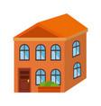 cute building exterior icon vector image vector image
