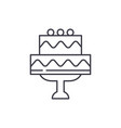 cute wedding cake line icon concept cute wedding vector image vector image
