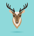 Deer head on turquoise background vector image