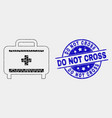 dotted medical baggage icon and distress do vector image vector image