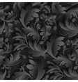 Empire seamless black paper pattern vector image