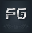 fg - metallic 3d icon or logotype template design vector image