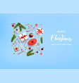 flat blue holiday christmas vector image vector image
