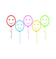funny balloons vector image