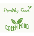 green and healthy food vector image vector image
