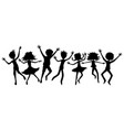 group teenagers in a jump vector image
