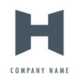 H grey logo vector image vector image