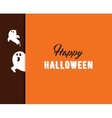 Halloween greeting cards banner with ghost vector image vector image