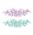hand drawn shabby floral design vector image vector image