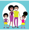 happy african american family of four members vector image