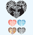 Heart love ornament vector image vector image