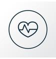 heartbeat icon line symbol premium quality vector image