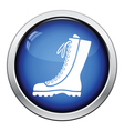 Hiking boot icon vector image vector image