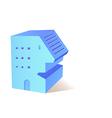 icon building vector image vector image