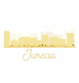 Juneau City skyline golden silhouette vector image vector image