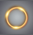 magic gold circle light effect vector image