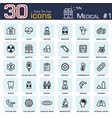 medical icon set 1 outline style vector image