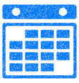 month calendar grunge icon vector image vector image