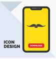 moustache hipster movember male men glyph icon in vector image