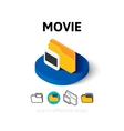 Movie icon in different style vector image vector image