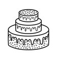 party sweet cake icon vector image
