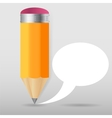 Pencil with speech bubble vector image