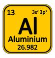 Periodic table element aluminium icon