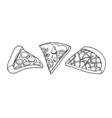 Pizza slice drawing vector image vector image